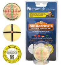 "2 1/16"" FULL SIZE 52mm ARAMITH NIC BARROW'S ULTIMATE SNOOKER TRAINING BALL"